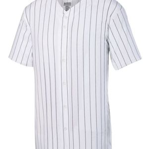 Pinstripe Full Button Baseball Jersey Thumbnail