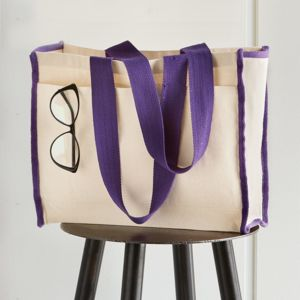 14L Tote with Contrast-Color Handles Thumbnail