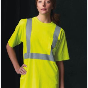 USA-Made 50/50 High Visibility Short Sleeve T-Shirt with Pocket Thumbnail