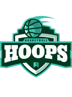 Hoops Basketball logo template 02