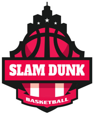 SLAM DUNK Basketball Logo Template
