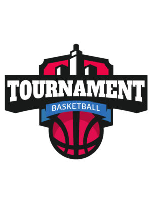 Tournament Basketball logo template