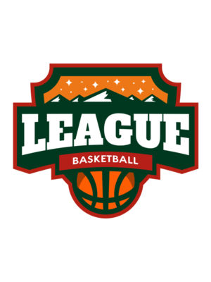 League Basketball logo template