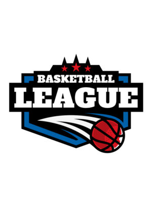 League Basketball logo template 02