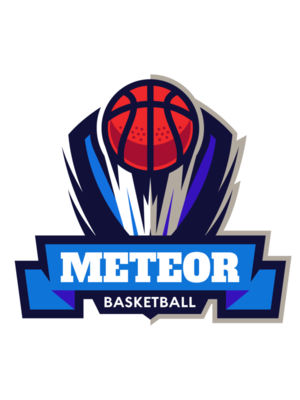 Meteor Basketball Logo Template