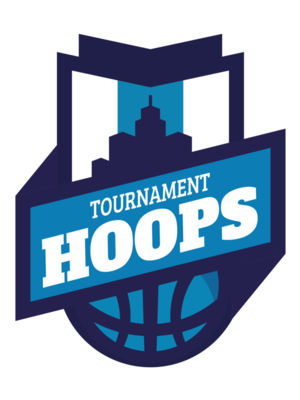 Hoops Tournament Basketball logo template