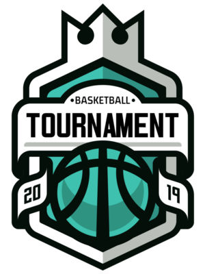Tournament Basketball logo template 03
