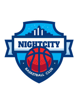 Night city Basketball club logo template