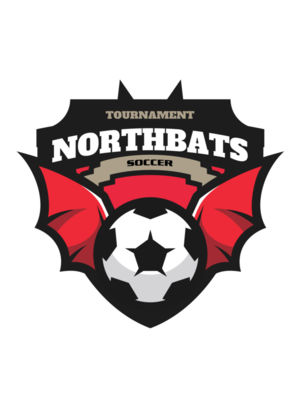 North bats Tournament Soccer logo template