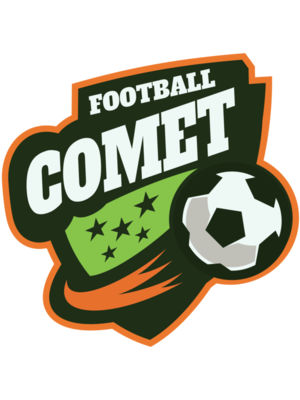 Comet Football logo template