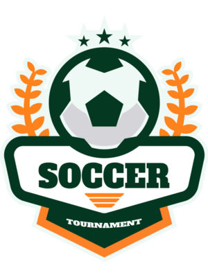 Soccer Tournament logo template