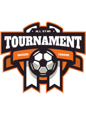 Tournament Soccer league logo template