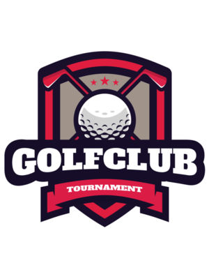 Golf Club Tournament logo template 03