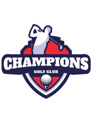 Champions Golf Club logo template