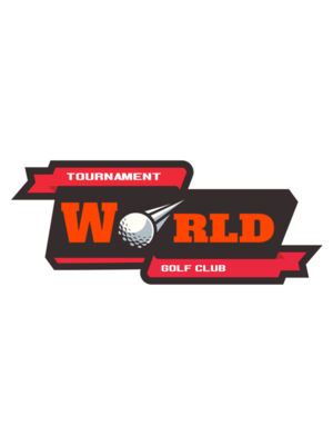 World Tournament Golf club logo template
