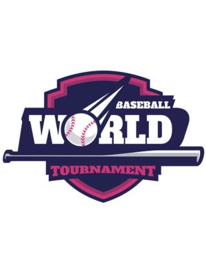 World Baseball Tournament logo template