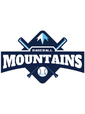 Mountains Baseball logo template