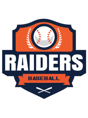 Raiders Baseball logo template