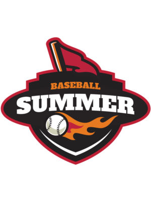Summer Baseball logo template