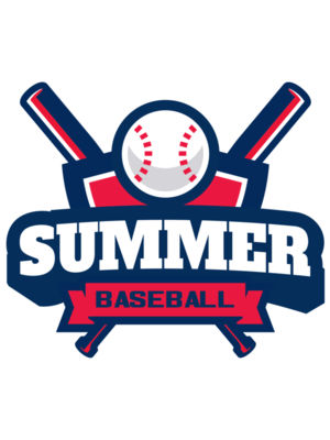 Summer Baseball logo template 02
