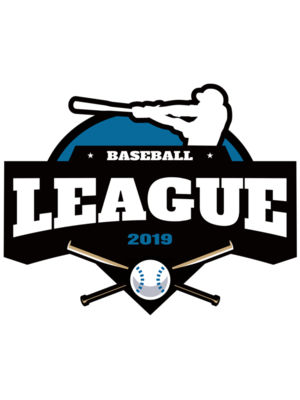 League Baseball logo template