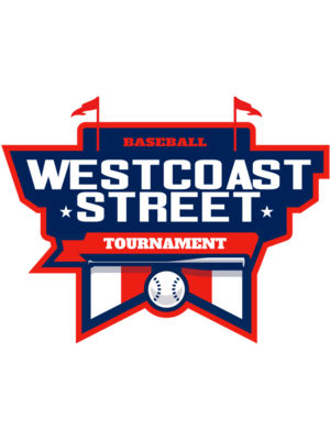 West Coast Street Baseball Tournament logo template