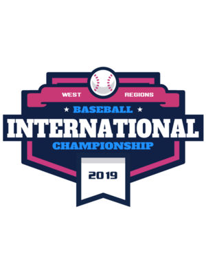 Baseball International Championship logo template