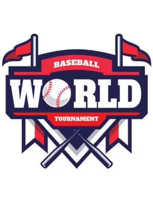 World Tournament Baseball logo template