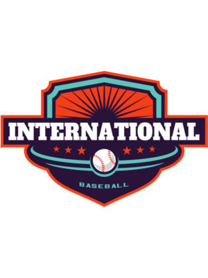International Baseball logo template
