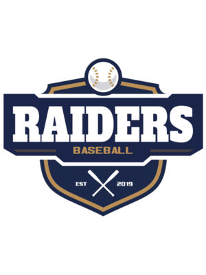 Raiders Baseball logo template 02