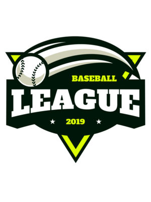 League Baseball logo template 02
