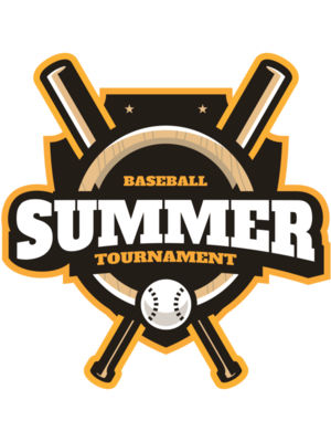 Summer Tournament Baseball logo template
