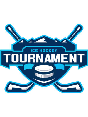 Tournament Ice Hockey logo template