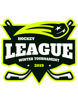League Hockey Winter Tournament logo template