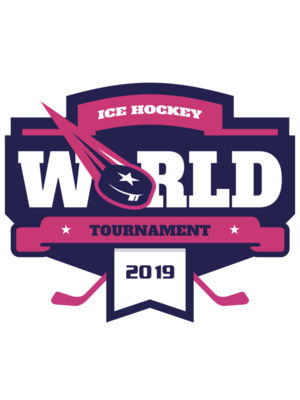 World Ice Hockey Tournament logo template