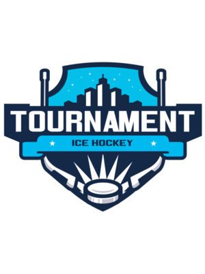 Tournament Ice Hockey logo template 02
