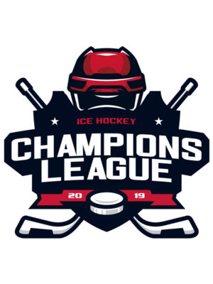Champions League Ice Hockey logo template