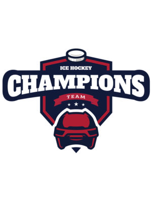 Champions Team Ice Hockey logo template