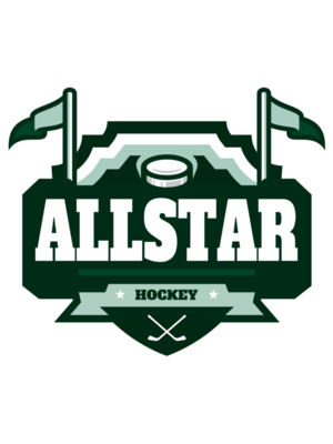 All Star Hockey Tournament logo template 02