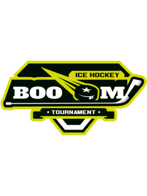 Boom Ice Hockey Tournament logo template