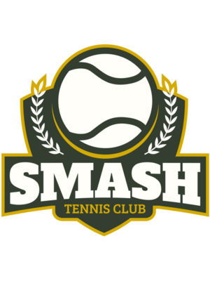 Smash Tennis Club logo template