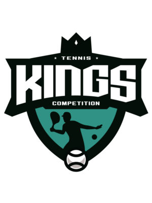 Kings Tennis Competition logo template