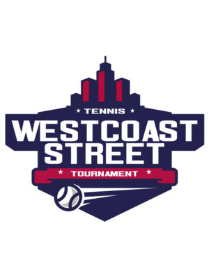 West coast Street Tennis logo template