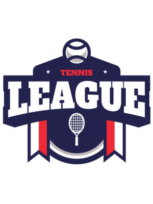 League Tennis logo template