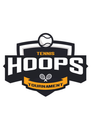 Hoops Tennis Tournament logo template