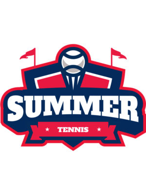 Summer Tennis logo template