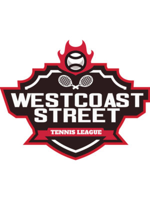 West coast Street Tennis League logo template