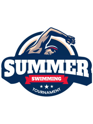 Summer Swimming Tournament logo template