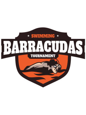 Barracudas Swimming Tournament logo template