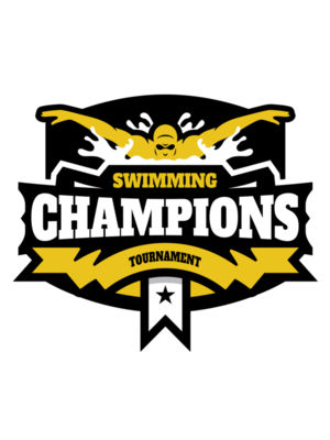 Champions Swimming Tournament logo template